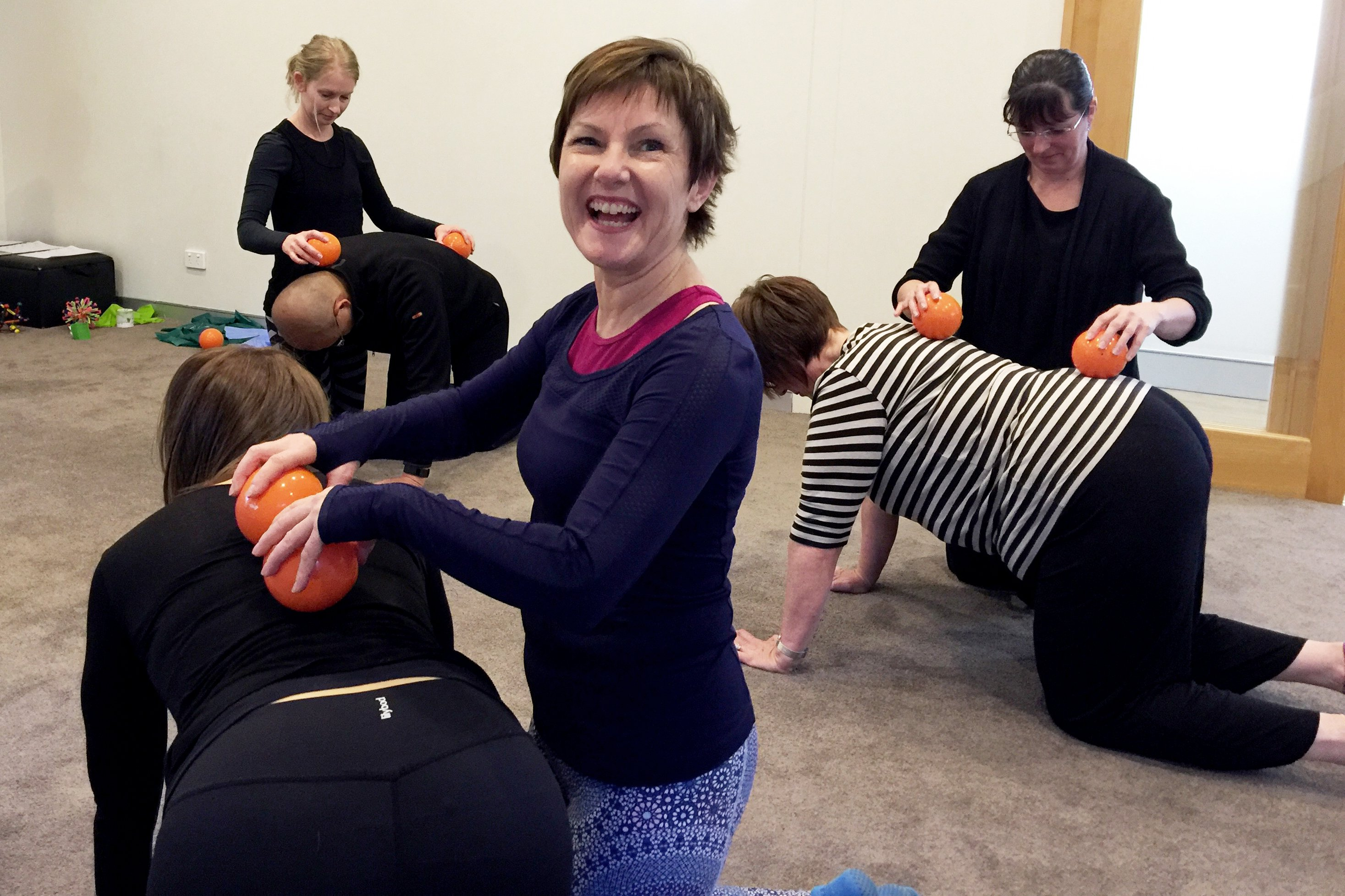 Pilates Instructors with Clients