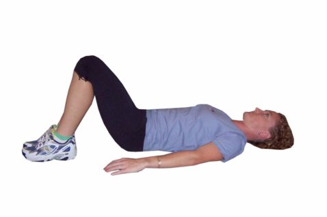 Single Leg Lifts are a great Pilates exercises for beginners